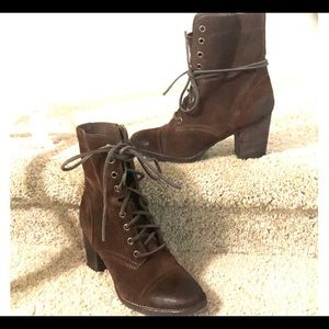 Steve Madden combat boot Gretell brown 9